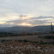 Sunset over Shchem Israel