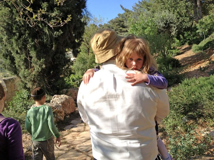 Devorah Leah gets help up the Mt. of Olives