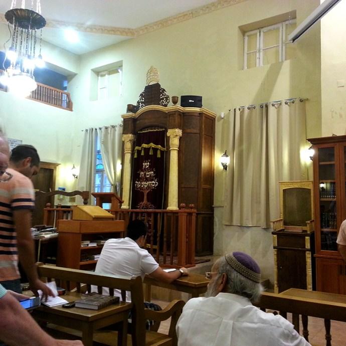 Davening in Tiberias