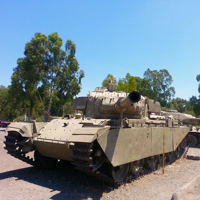 Tanks near Katzrin