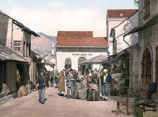 Mostar, Cafe Luft, Herzegowina, Austro-Hungary