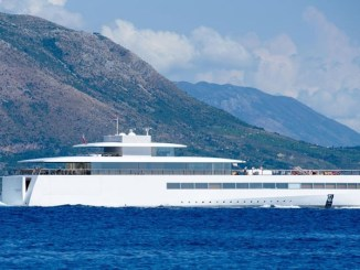 Lauren Powell Jobs in Dubrovnik on the super yacht Venus.