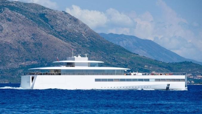 Lauren Powell Jobs in Dubrovnik on the super yacht Venus.