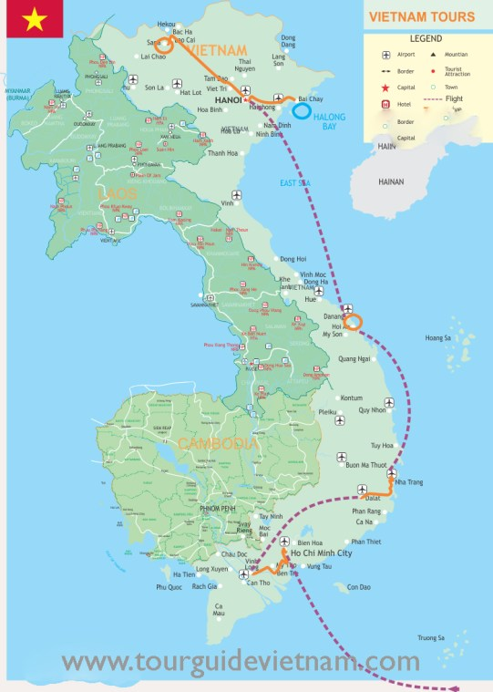 Map Legend Journey Vietnam f93c1 729x1024 Vietnam Discovery Itinerary 18 Days