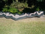We spent about an hour trying to find this ... landmark. It's a snake in the shape of the river, based on local legend.