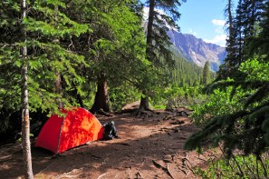 Backpacking - Camping with Tent in the Mountains
