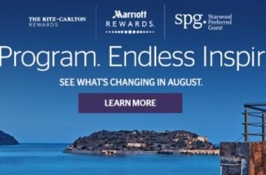 SPG Marriott Changes August
