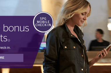 SPG Mobile Check-In Bonus