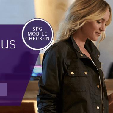 SPG Mobile Check-In Bonus