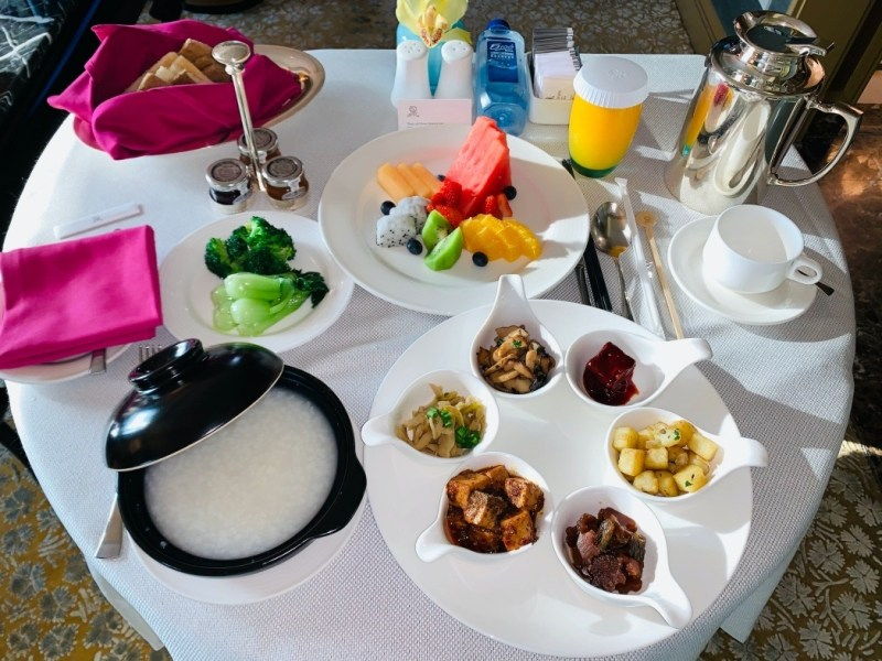 St. Regis Beijing In-Room Breakfast (Vegan)