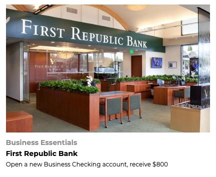 FoundersCard First Republic Bank BONUS