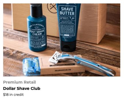 FoundersCard Dollar Shave Club Credit