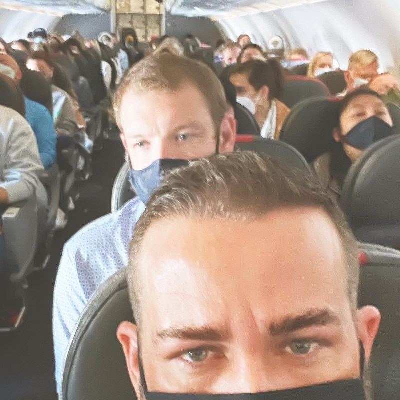 Full American Airlines Flight During Covid
