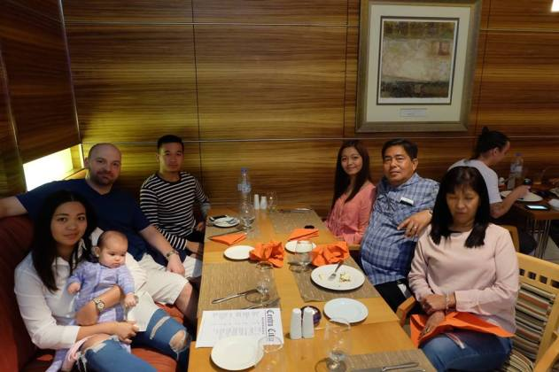 Dinner with the family