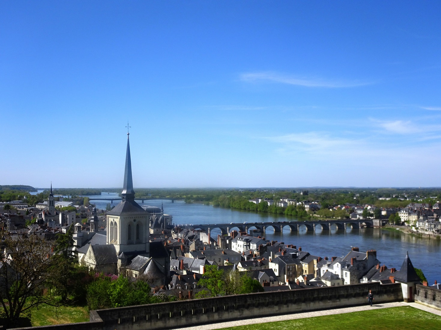 The beautiful view of Saumur taken from the Castle.