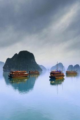 Ha Long Bay in Vietnam.
