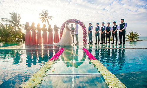 Over-Water Wedding At Conrad Koh Samui