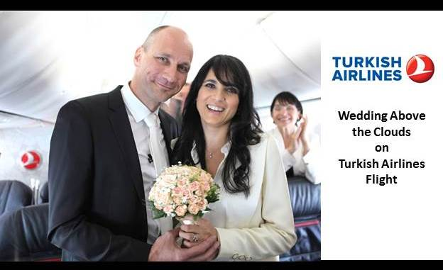 Wedding Above The Clouds On Turkish Airlines