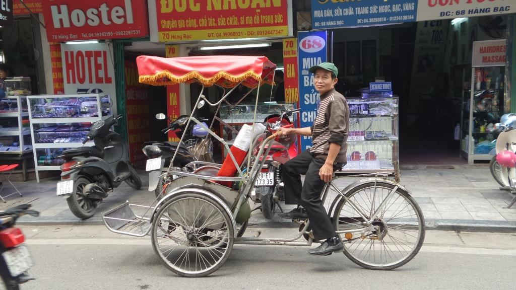 The typical Vietnamese rickshaw