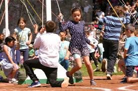 2019: Children dance around the maypole at this year's celebration. Photo courtesy of Kevin Hill of the NewWestminster Record.