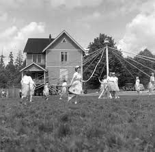 1953: Children Dance Around the Maypole during the annual May Day festival in New Westminster. Photos courtesy of the New Westminster archives.
