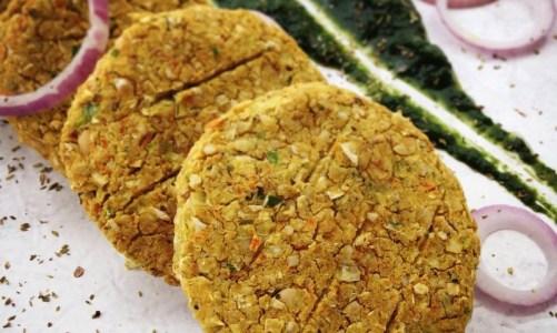 Beanburgers με πουρέ από σπανάκι: εξαιρετικό και vegan
