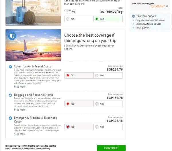 طريقة حجز تذاكر الطيران على الانترنت