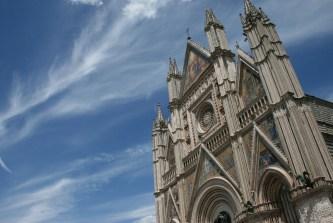 The Duomo in a full sky blue sky