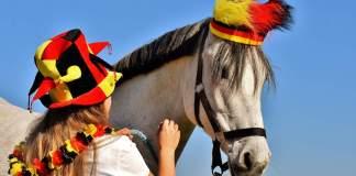 supporter met paard