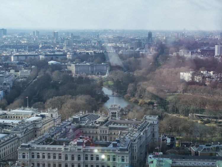 Buckingham Palace Vue du London Eye © Touristissimo