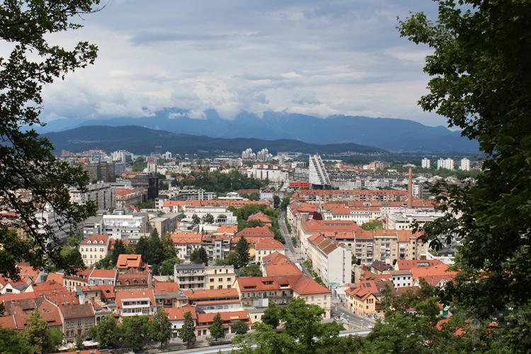 Centre vile de Ljubljana depuis le château