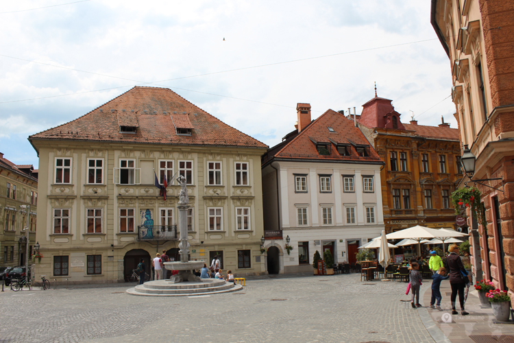 la vieille ville de Ljubljana