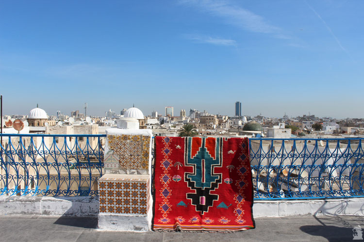 Vue panoramique sur Tunis depuis le palais d'orient
