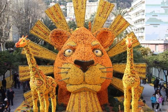 Le roi lion fête du citron à Menton