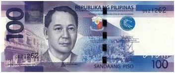 100 Philippine Peso Bill Font
