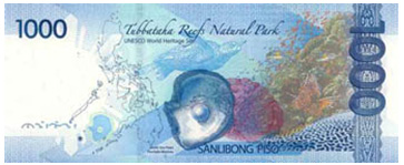 1000 Philippine Peso Bill Back