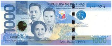 1000 Philippine Peso Bill Font