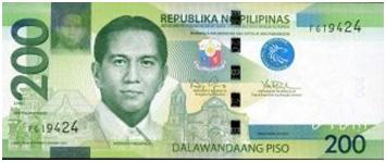 200 Philippine Peso Bill Font
