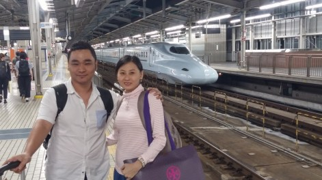 ke osaka menggunakan shinkansen tour ke jepang summer 2015