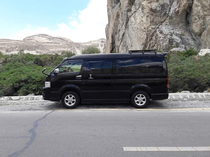 Toyota Hiace for Gilgit Hunza tour