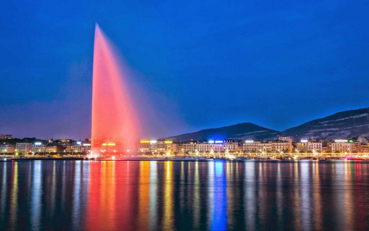 نافورة جنيف يبلغ ارتفاعها 140 متر