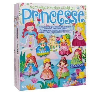 Kit moulage & peinture à paillettes Princesse