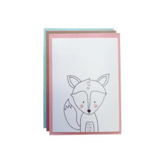 Carte de voeux - renard