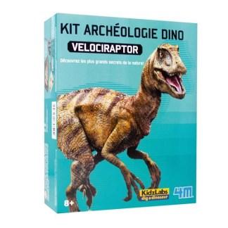 Déterre un squelette de dinosaure - Velociraptor