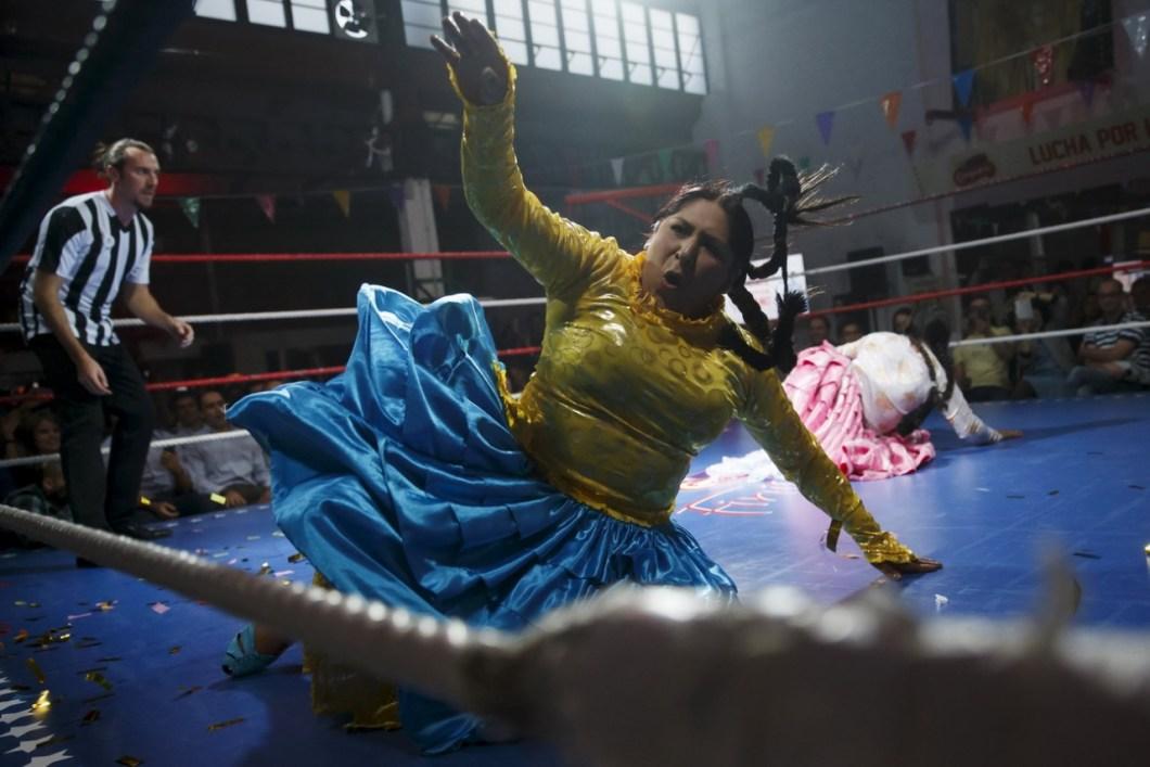 битва боливийских женщин