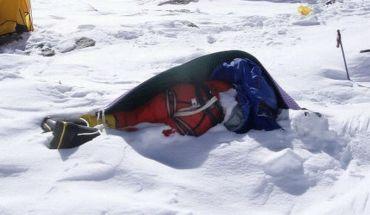 замерзший альпинист