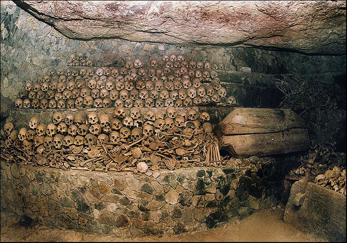 кости в пещере