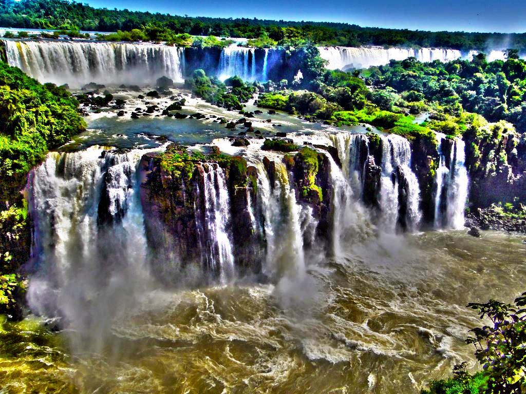 водяные потоки игуасу