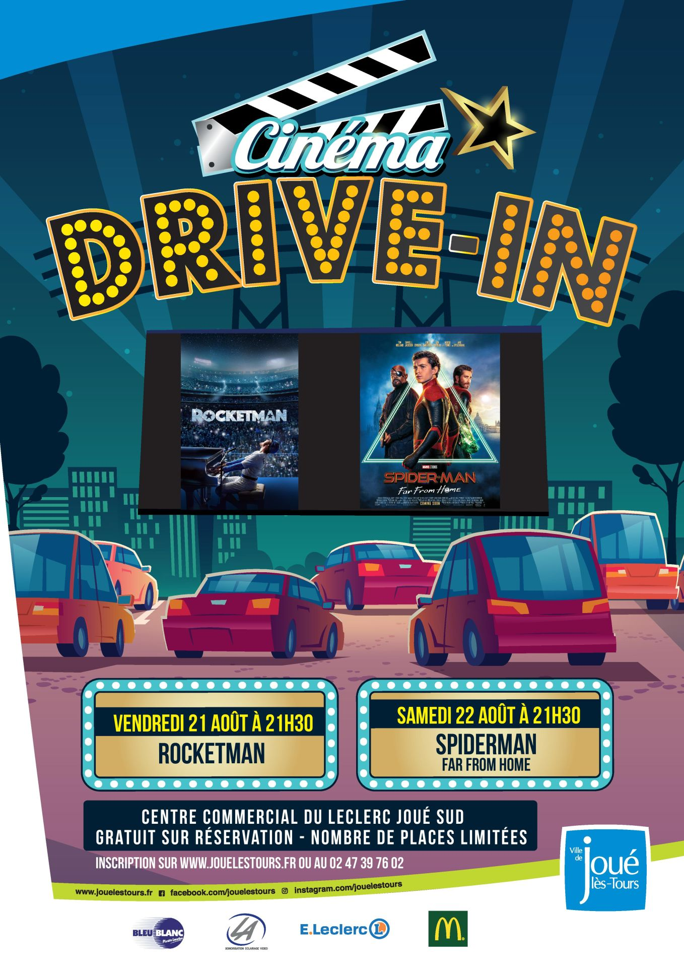 soirees drive in a joue les tours