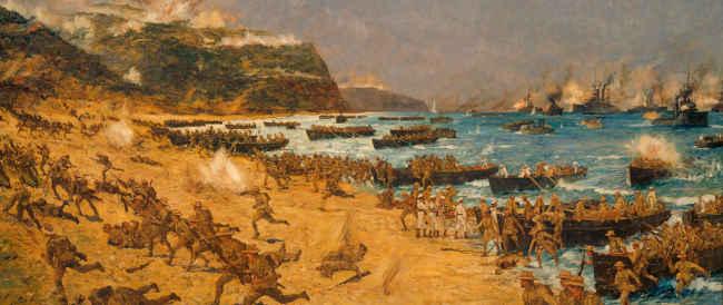 Anzac Landing Painting